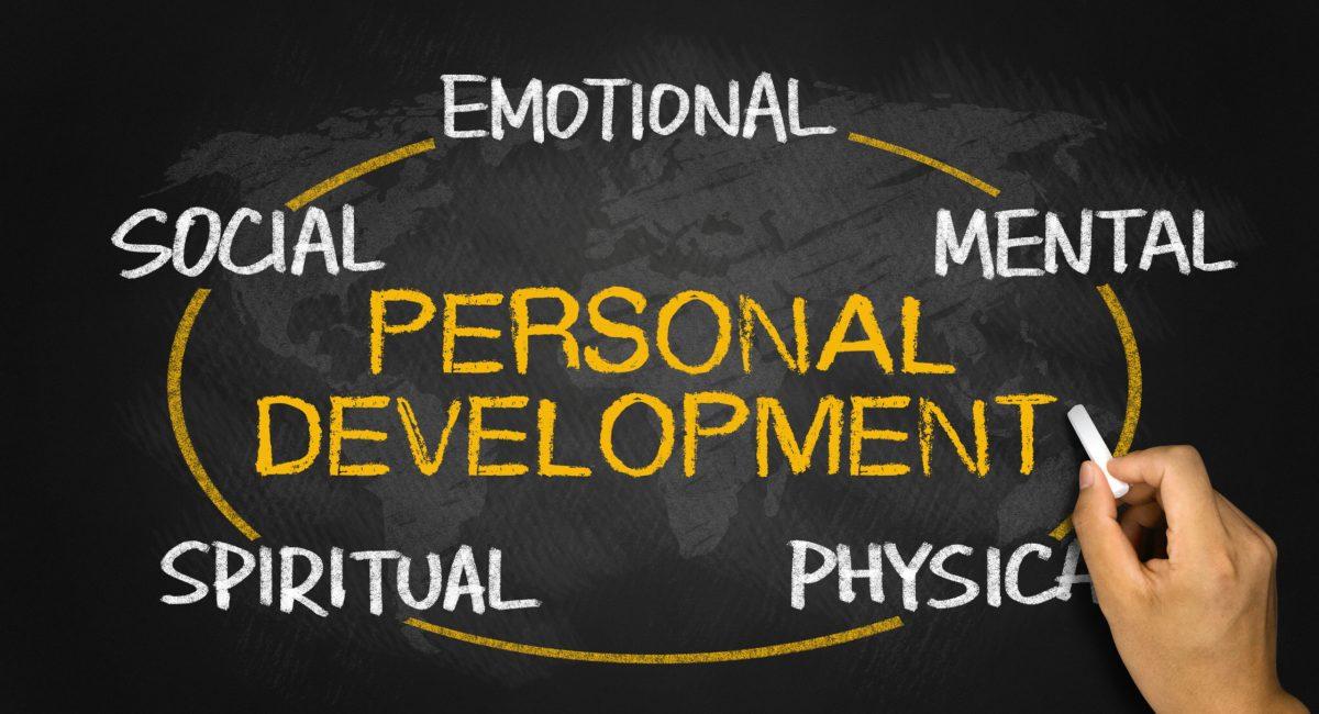 personal development concept on blackboard